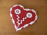 Virágmintás szív